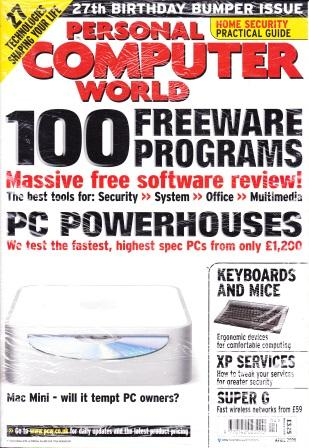 Scan of Document: Personal Computer World - April 2005