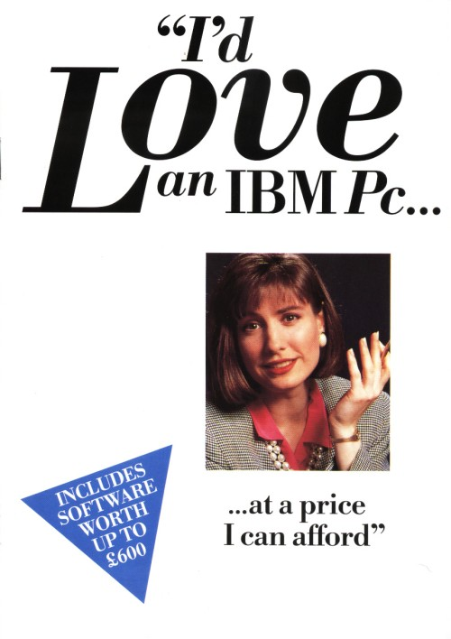 Scan of Document: I'd Love  an IBM PC ...