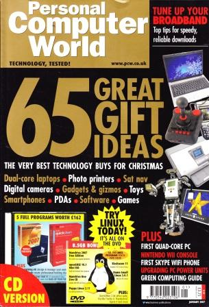 Scan of Document: Personal Computer World - January 2007