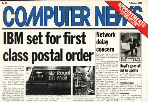 Scan of Document: Computer News - 21st February 1985