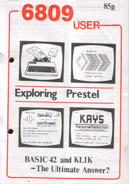 Scan of Document: 6809 User - First Edition