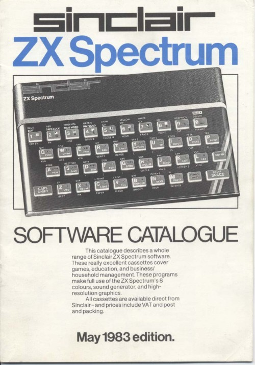 Scan of Document: Sinclair ZX Spectrum Software Catalogue