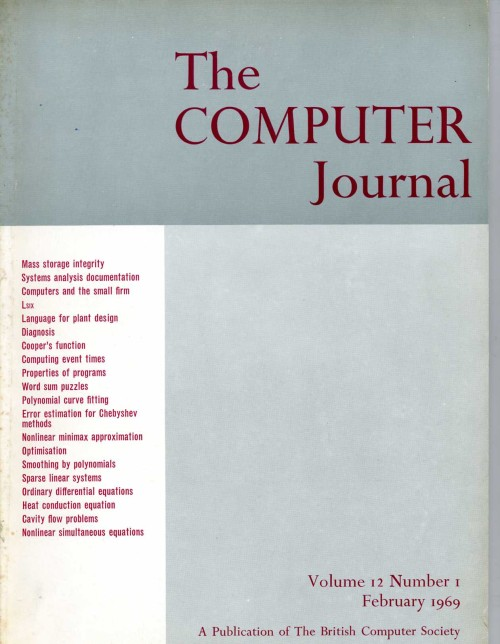 Scan of Document: The Computer Journal February 1969