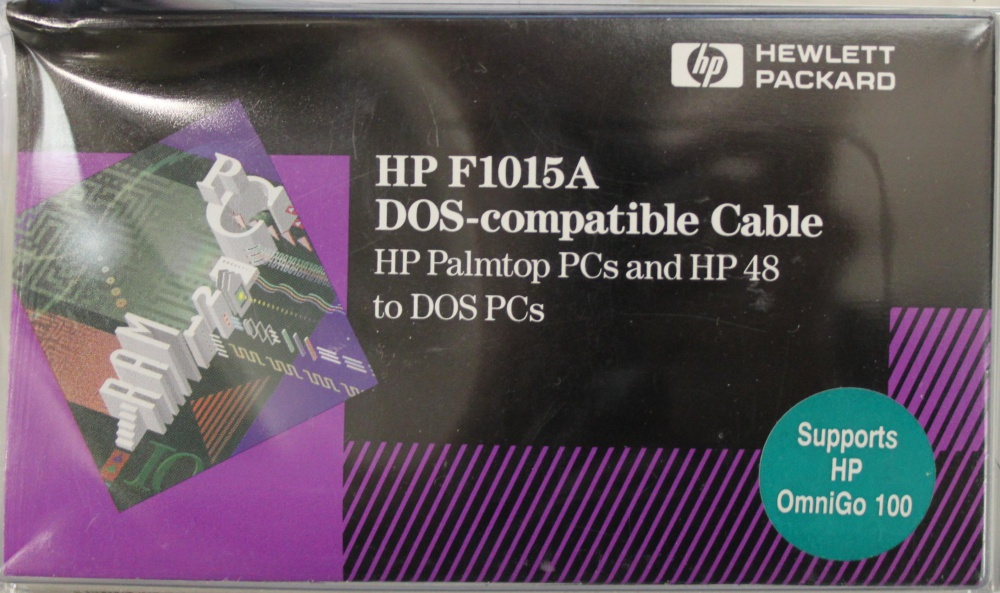 Scan of Document: HP F1015A DOS-compatible cable