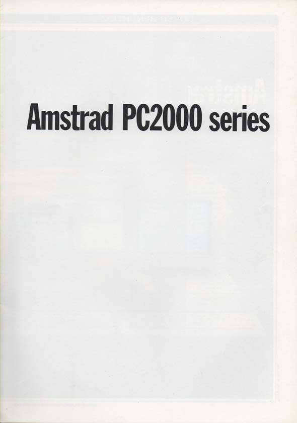 Scan of Document: AmstradPC 2000 Series
