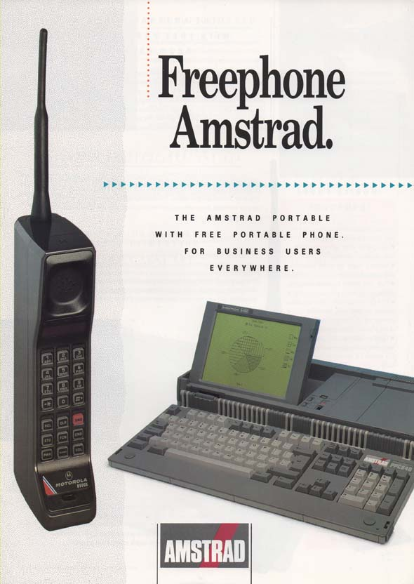 Scan of Document: Amstrad Freephone with Amstrad Portable