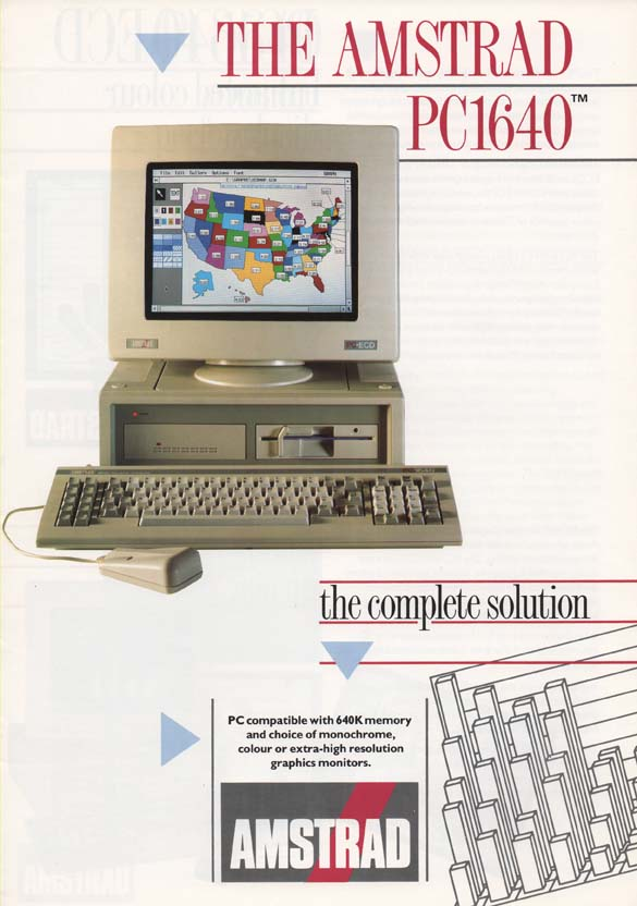 Scan of Document: Amstrad PC1640 Brochure