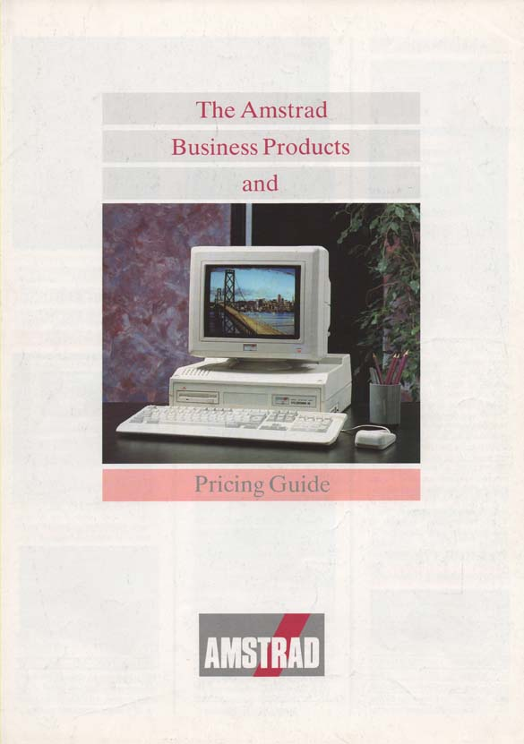 Scan of Document: Amstrad Business Products & Pricing Guide