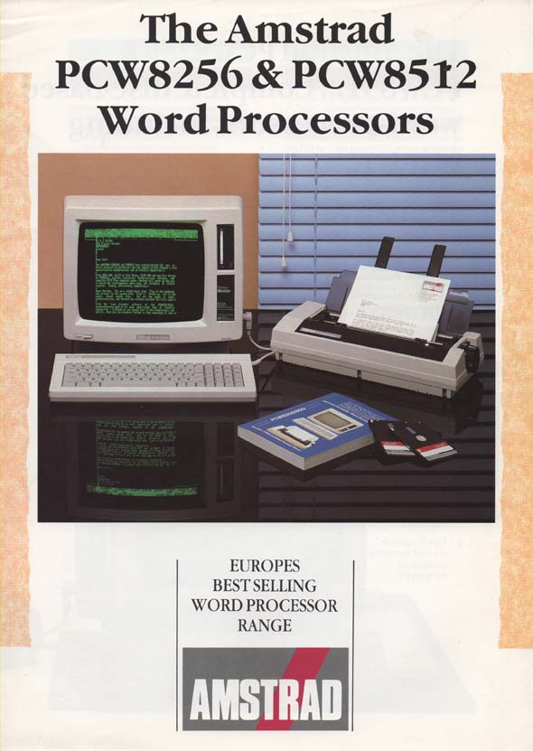 Scan of Document: Amstrad PCW8256 & 8512 Word Processors