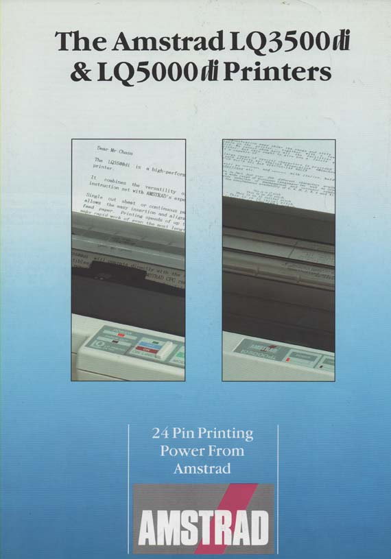 Scan of Document: Amstrad LQ3500di & LQ5000di Printers
