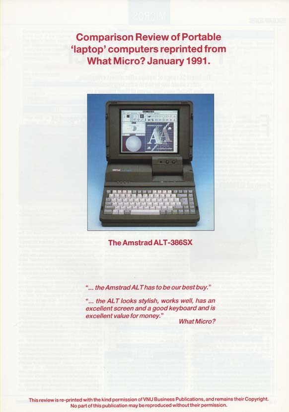 Scan of Document: Amstrad ALT-386SX laptop review - What Micro