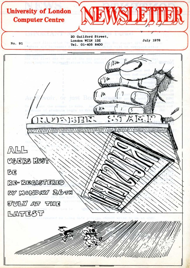 Scan of Document: ULCC News July 1976  Newsletter 91