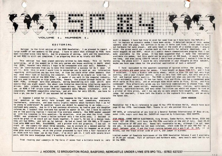Scan of Document: SC-84 computer documentation