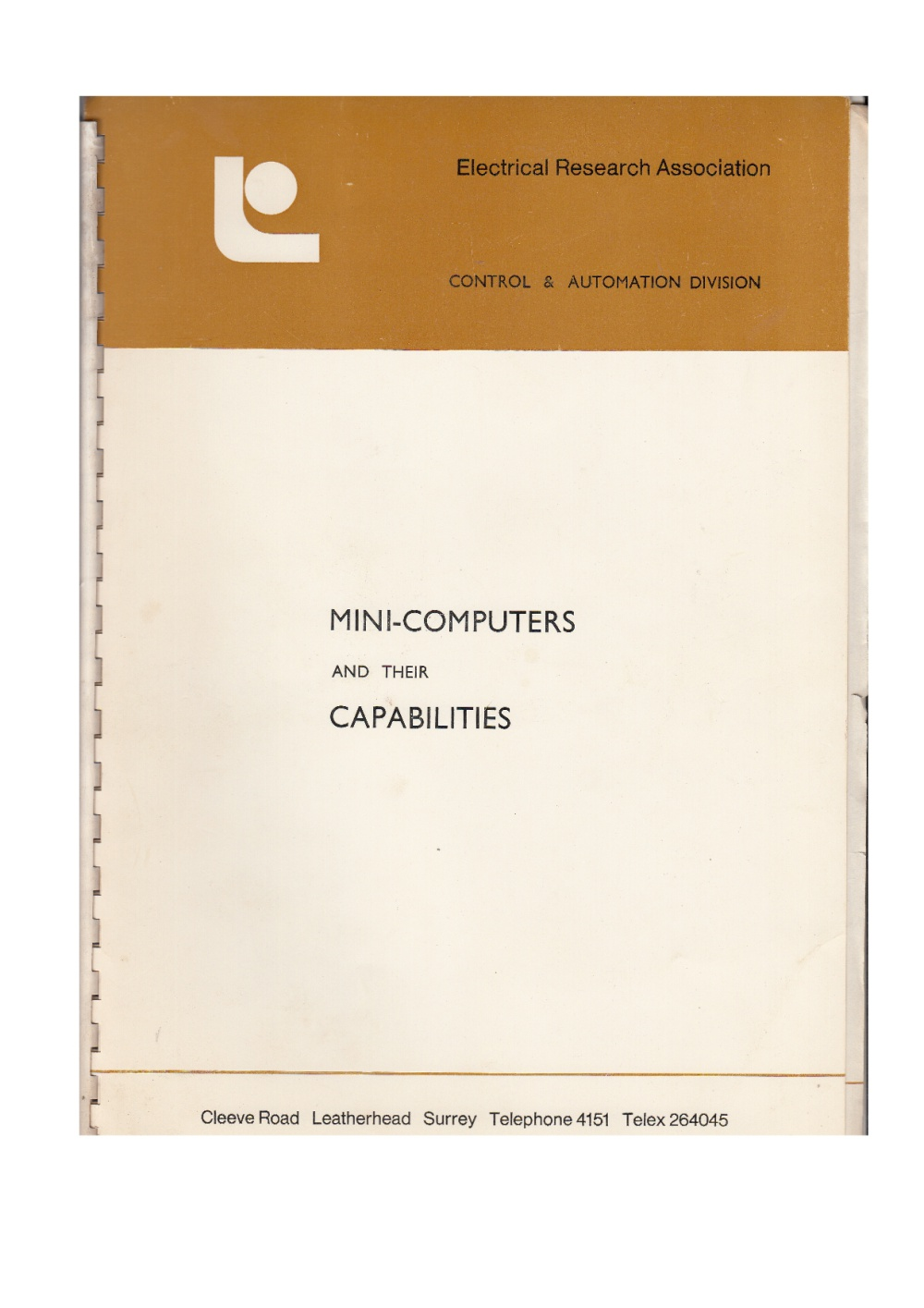 Scan of Document: Mini-Computers and their Capabilities - Summary