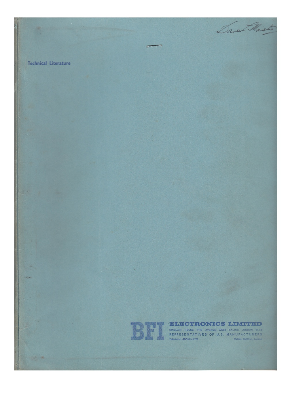 Scan of Document: BFI Electronics Limited / Cipher Data Products Documentation