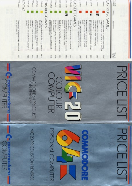 Scan of Document: Price List