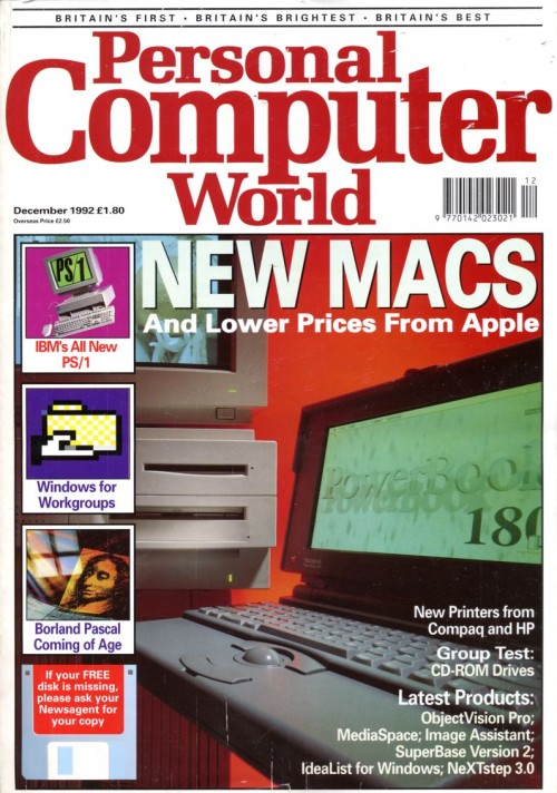 Scan of Document: Personal Computer World - December 1992