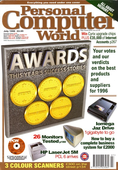 Scan of Document: Personal Computer World - July 1996
