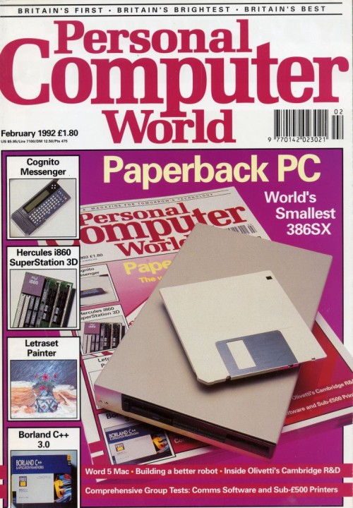Scan of Document: Personal Computer World - February 1992