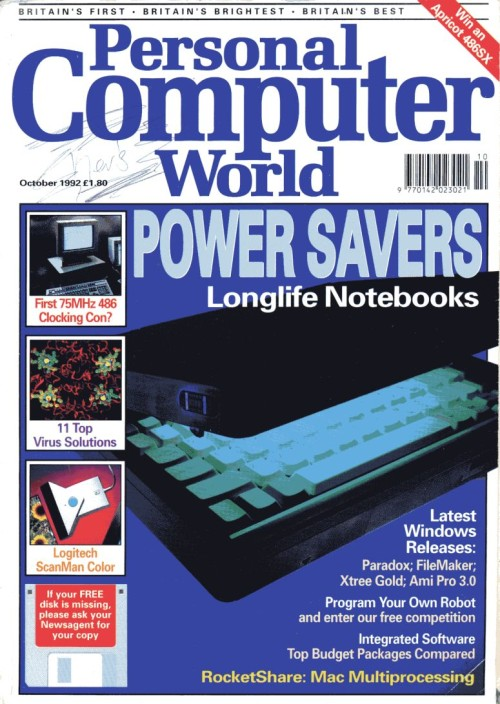 Scan of Document: Personal Computer World - October 1992