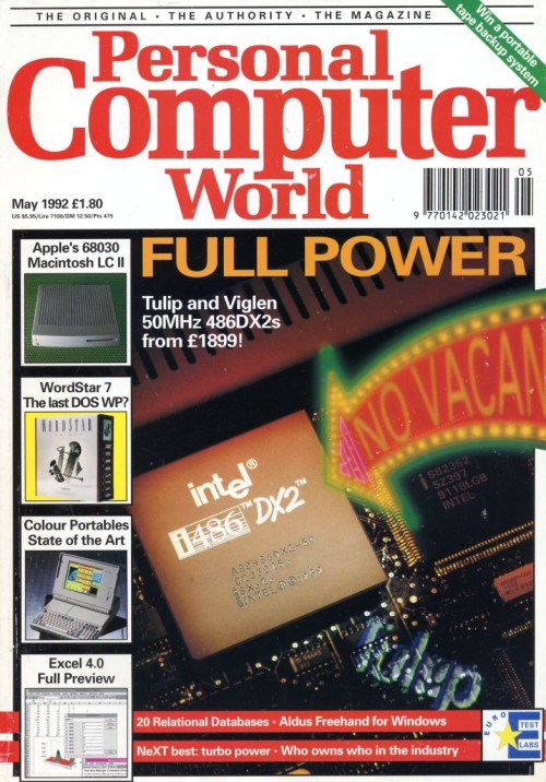 Scan of Document: Personal Computer World - May 1992
