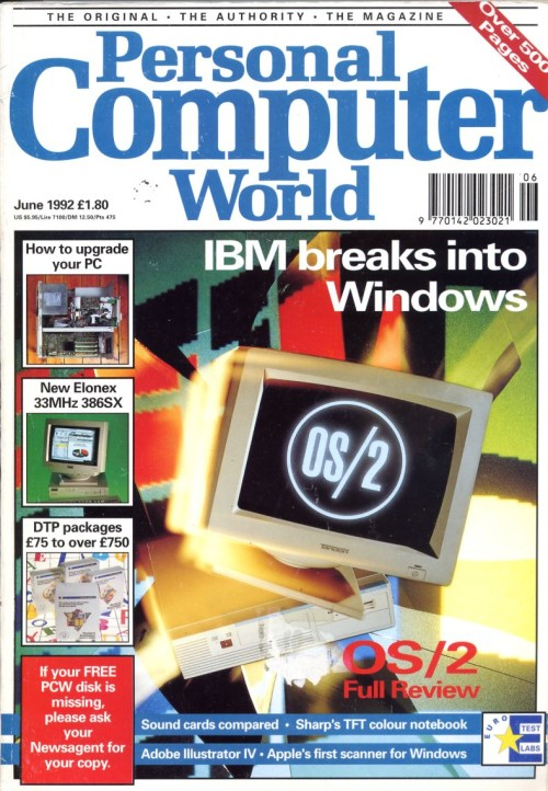 Scan of Document: Personal Computer World - June 1992