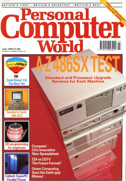 Scan of Document: Personal Computer World - July 1992
