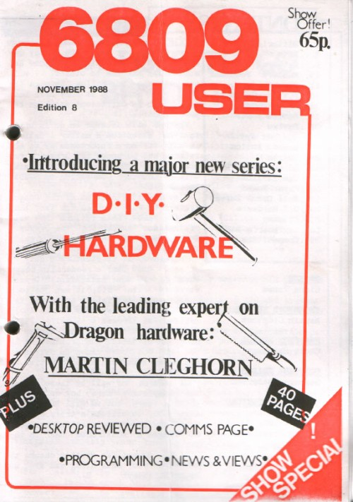 Scan of Document: 6809 User - Edition 8 - November 1988