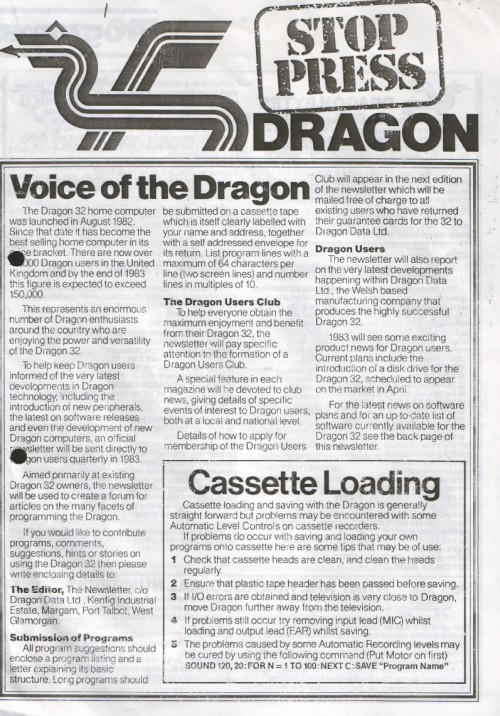 Scan of Document: Dragon Stop Press - Issue 1