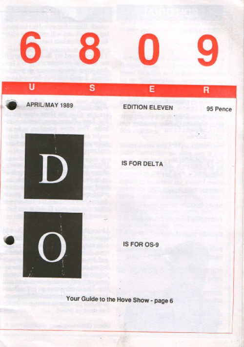 Scan of Document: 6809 User - Edition 11 - April / May 1989