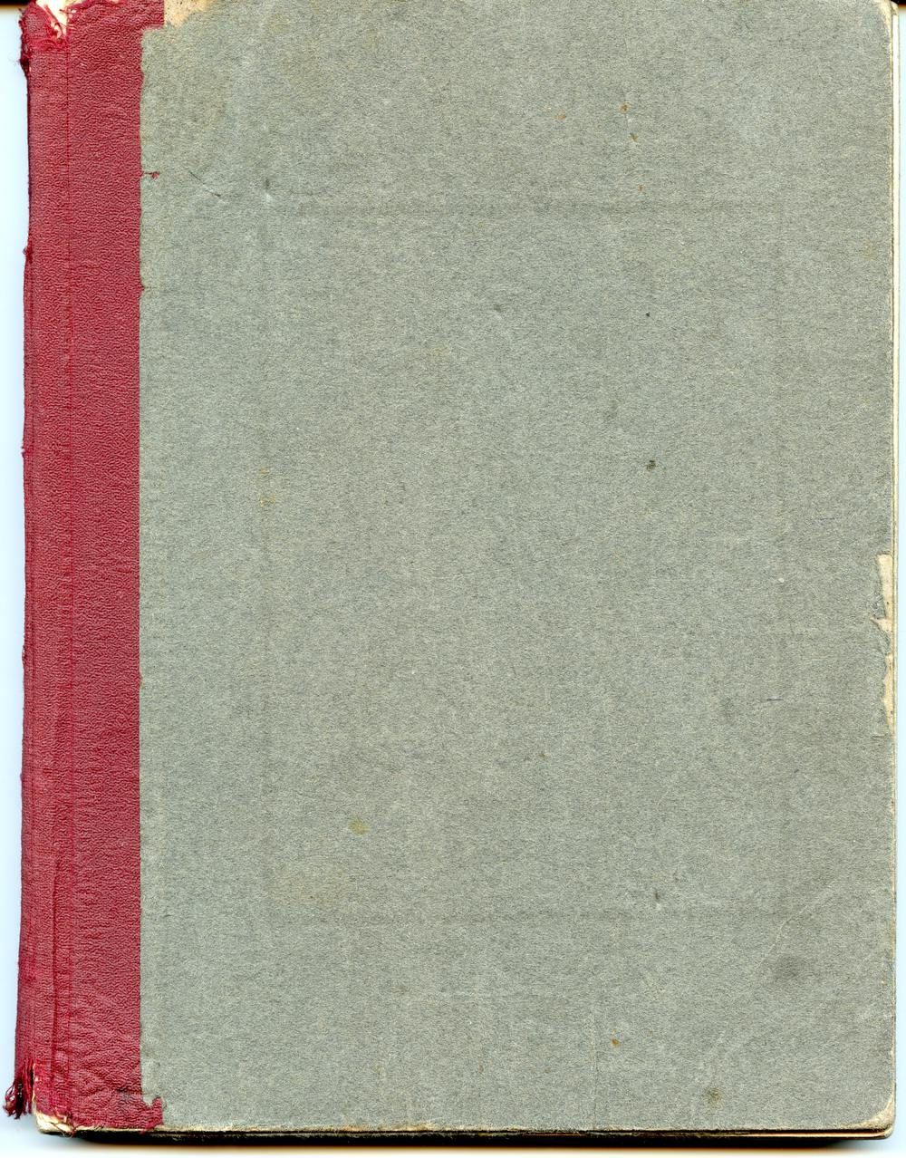 Scan of Document: Notebook from Comptometer Operation Course