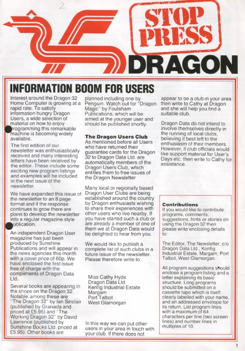 Scan of Document: Dragon Stop Press - Issue 2