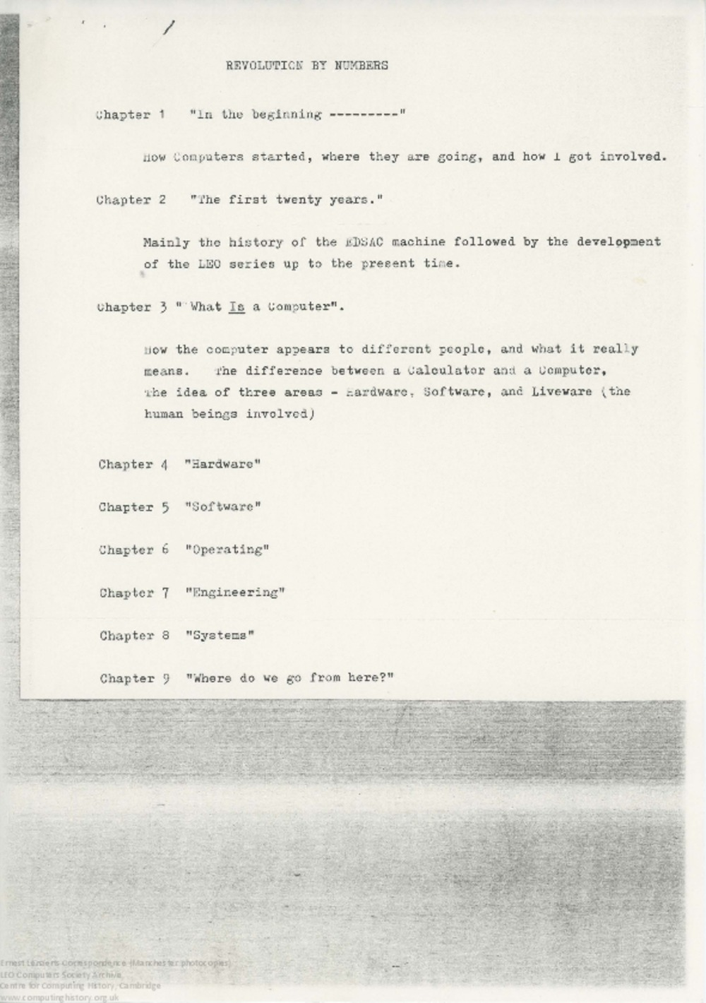 Article: 62899 Lenaerts: Revolution by Numbers, Chap 4. Hardware (draft), 30th Jul 1971