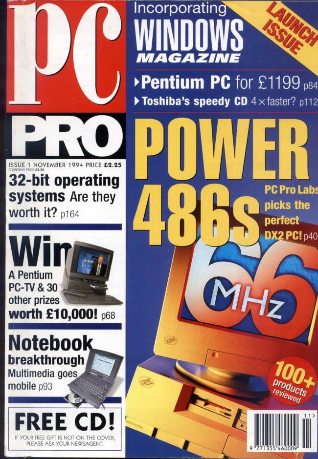 Scan of Document: PC Pro Issue 1 November 1994