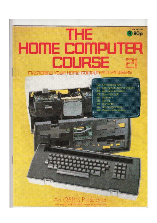 Scan of Document: The Home Computer Course - Issue 21