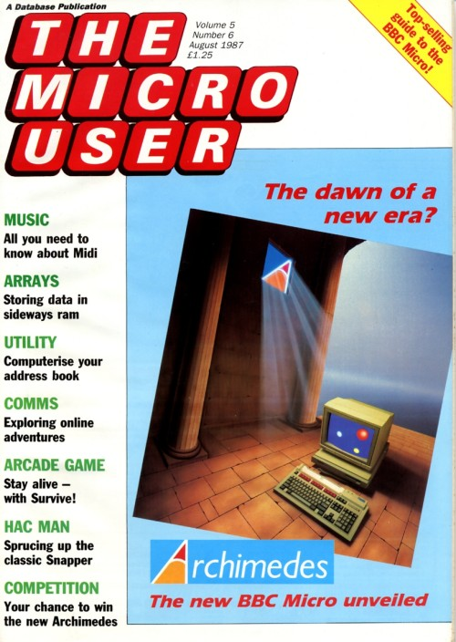 Scan of Document: The Micro User - August 1987 - Vol 5 No 6