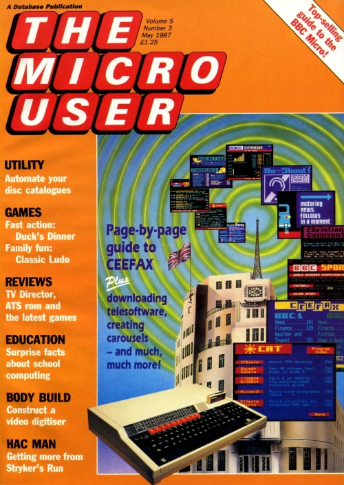 Scan of Document: The Micro User - May 1987 - Vol 5 No 3