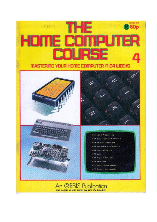 Scan of Document: The Home Computer Course - Issue 4 (A)