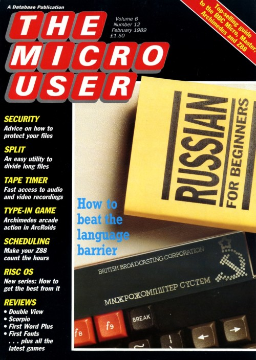 Scan of Document: The Micro User - February 1989 - Vol 6 No 12