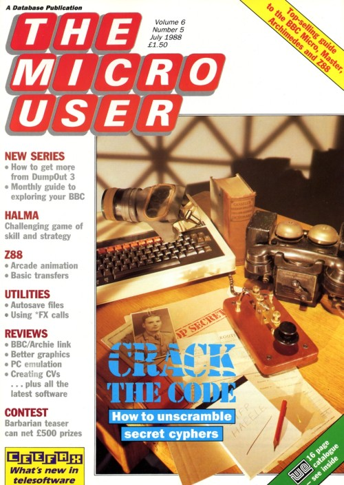 Scan of Document: The Micro User - July 1988 - Vol 6 No 5