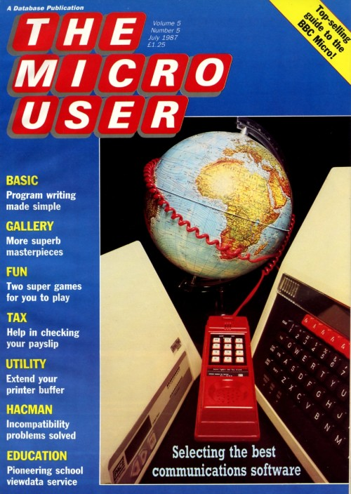 Scan of Document: The Micro User - July 1987 - Vol 5 No 5