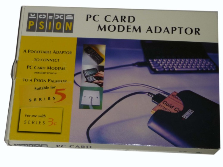Scan of Document: PSION PC Card Modem Adaptor