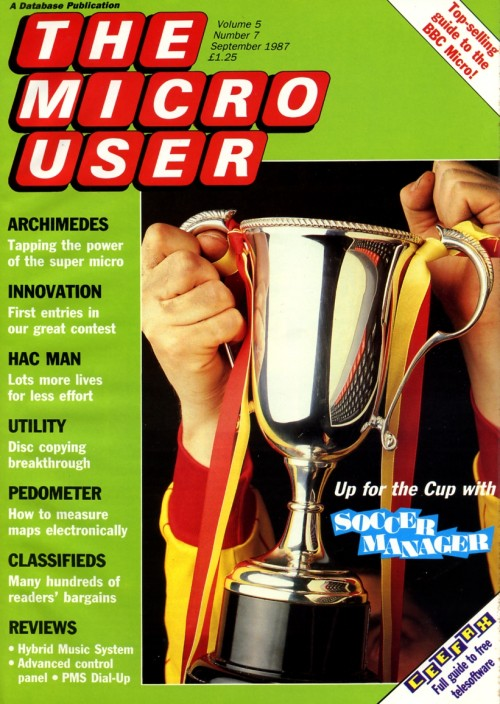 Scan of Document: The Micro User - September 1987 - Vol 5 No 7