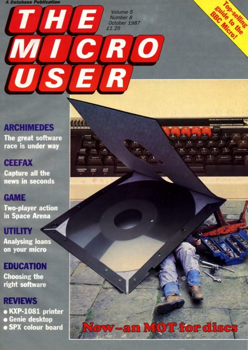 Scan of Document: The Micro User - October 1987 - Vol 5 No 8