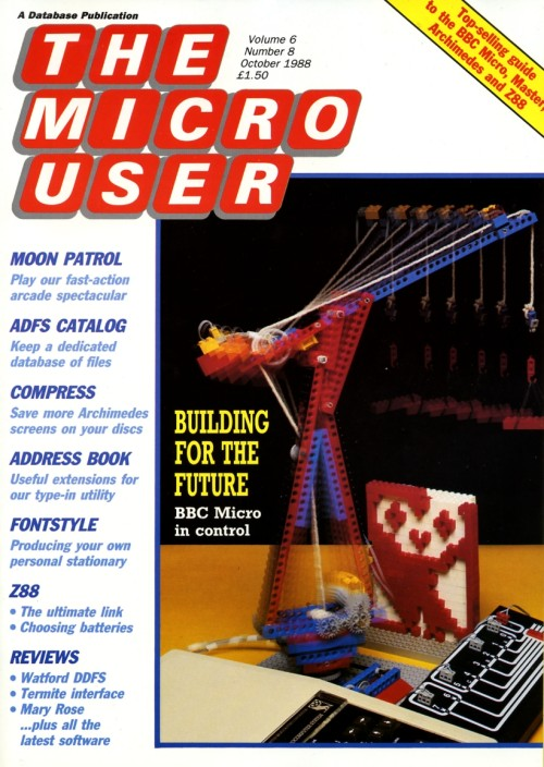 Scan of Document: The Micro User - October 1988 - Vol 6 No 8