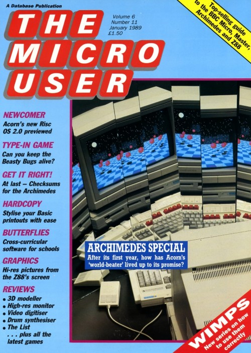 Scan of Document: The Micro User - January 1989 - Vol 6 No 11