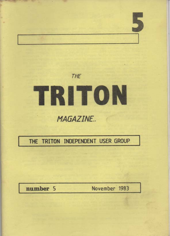 Scan of Document: Triton Magazine No: 5 November 1983