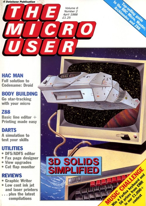 Scan of Document: The Micro User - April 1988 - Vol 6 No 2