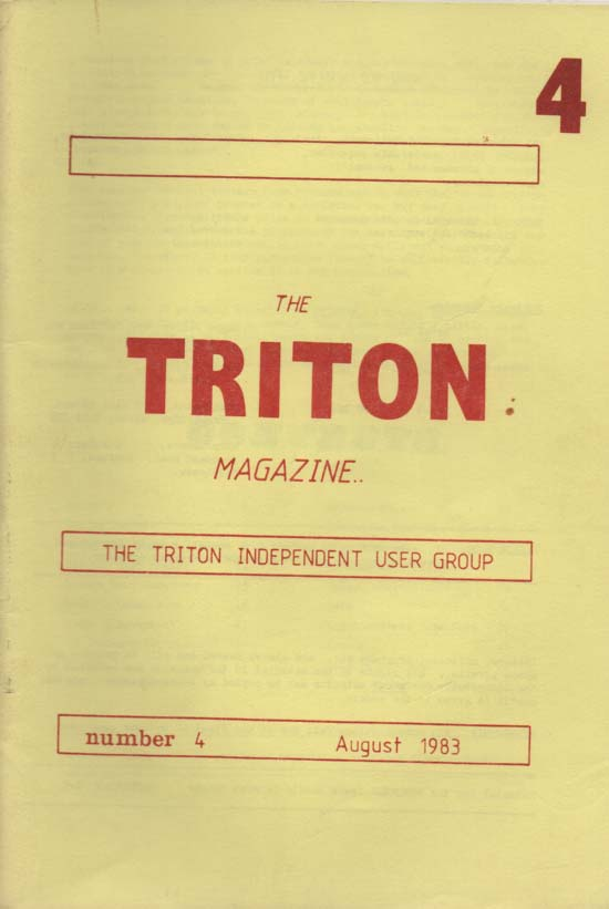Scan of Document: Triton Magazine No: 4 August 1983