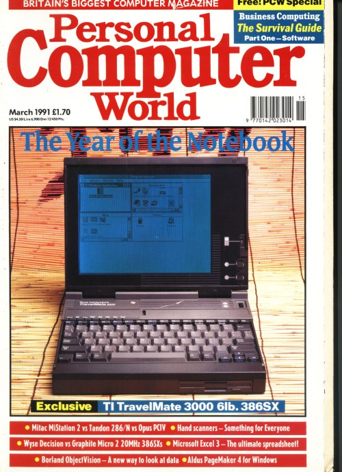 Scan of Document: Personal Computer World - March 1991